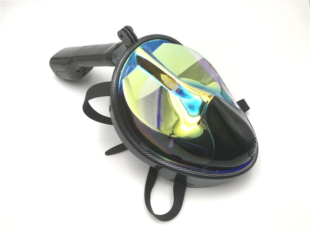 2017 New Full Face Anti-fog Snorkeling Diving Mask adult  Anti-skid Ring Snorkel Scuba  Snorkel Masks Underwater 180 View <br>