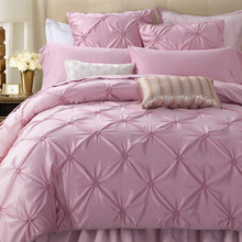 Luxury 6-Pieces Cotton Imitated Silk Bedding Set Rowan Design Wedding Satin Bedding Bed Set King Queen Bed Linens Duvet Cover