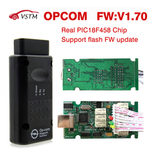 OPCOM Latest Version OPCOM v1.65 v1.70 v1.78 with PIC18F458 chip OBD2 OP COM CAN BUS Interface For Opel scanner diagnostic(China)