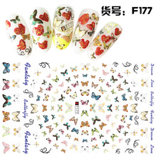 4Pcs/Set Water Transfer Nail Art Stickers Multi Butterfly Watermark Fingernails Decals Manicure Leather New Design