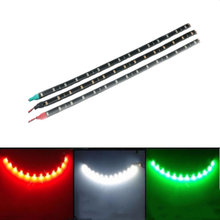 "3 x Boat Navigation LED Lighting RED,GREEN,WHITE 12"" Waterproof Marine LED Strips(China)"