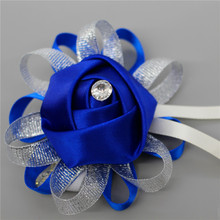 Wrist Corsages Hand Flowers Wedding decoration mariage Fashion Artificial Brides Bridesmaid Wedding Bouquet Multi Color Optional(China)