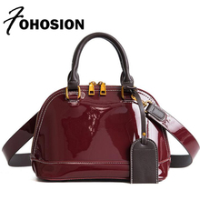 FOHOSION Luxury Women bags patent leather handbag Fashion Female shell Messenger bags brands designer Shoulder Bag Sac a main(China)