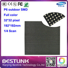 20 pcs p6 outdoor smd 32*32 pixel 1/4s rgb led panel high quality outdoor led display screen panel led module supply