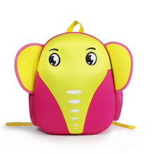 Cartoon Elephant Kindergarten Backpack Animal Kids School Bags Kid Baby Backpacks Students Cute Schoolbag Waterproof Aged 3-5