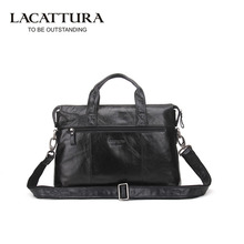 LACATTURA Luxury Business Genuine Leather Bag Man Handbags Men's Crossbody Bags Male Travel Tote Laptop Briefcases Men - Store store