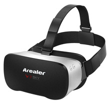 Arealer VR SKY All-in-one Machine Headset 3D Glasses 1080p 5.5Inch TFT Display Screen 100FOV 2D / 3D WiFi Bluetooth TF Card(China)