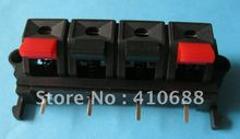 10 Pcs  58mmx20mm 4pin Red and Black Spring Push Type Speaker Terminal Board Connector WP4-19