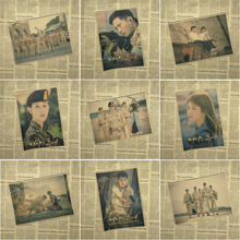 Descendants Of The Sun Classic Song Joong Ki core Korea Movie Poster Retro  Advertising Posters Bar Kraft Decorative Painting