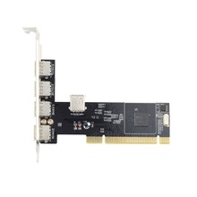 !  5 PORTS USB 2.0 USB2 PCI CARD Controller Adaptor (VIA) Brand New