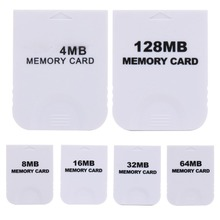 Hot Sale Practical 4MB 8MB 16MB 128MB  Memory Card  for Nintendo Wii Gamecube GC NGC White 128MB Game Memory Card For Wii