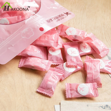 HAKOONA Disposable Towel Round Cotton Compressed Portable Travel Face Hand Towel Essential Supplies 20*20cm Washcloth 50pcs/bag(China)