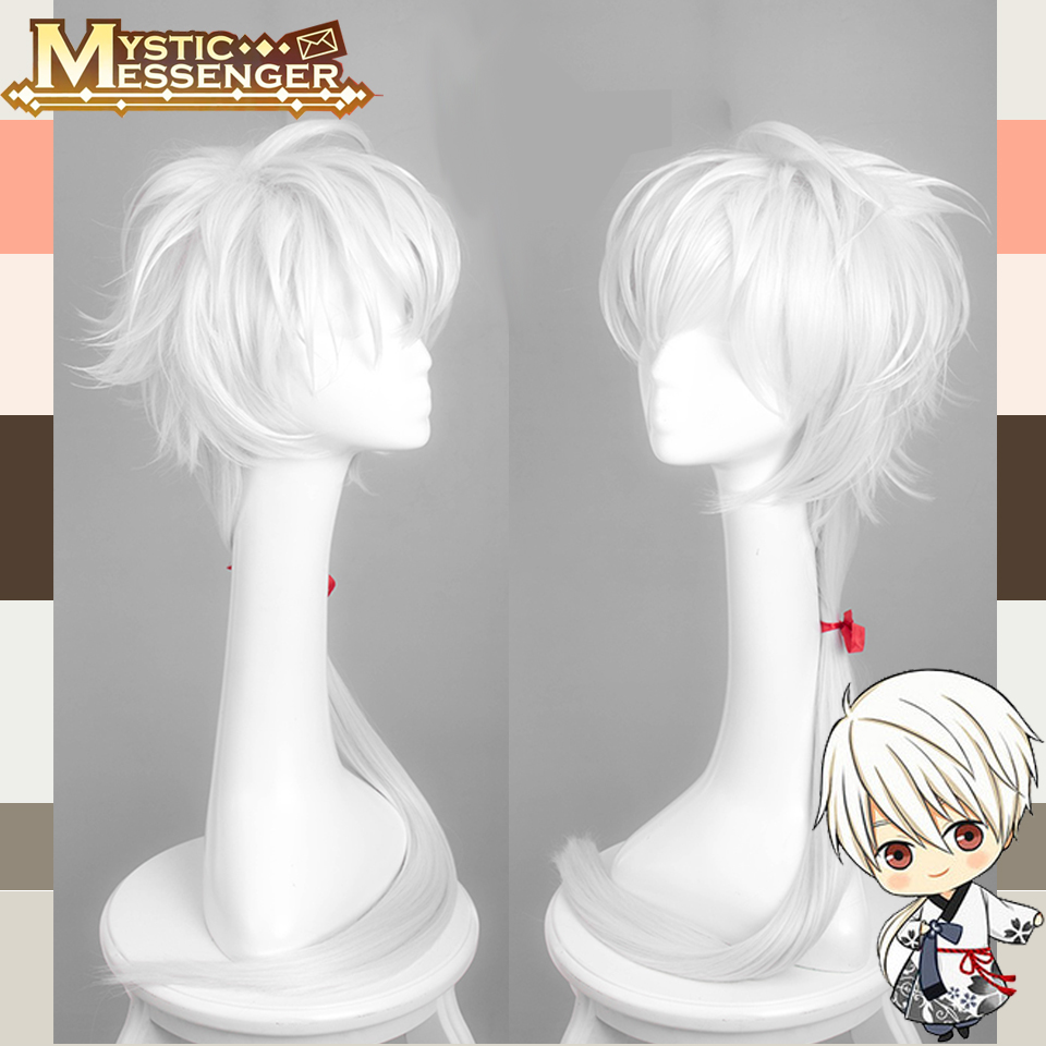 Anime Mystic Messenger ZEN Game Full Lace Cosplay Wig Costume Heat Resistant +Free Cap +Track Number<br><br>Aliexpress