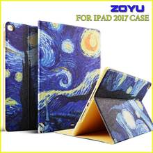 Case for iPad 2017 case 9.7 inch, ZOYU PU Leather+Ultra Slim Light Weight PC Back smart Cover for 2017 iPad Case New model