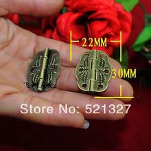 30 * 22MM antique hinge metal printing small wooden gift box hinge  6 small holes