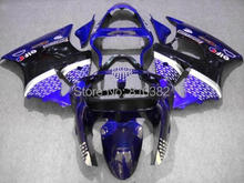 Motorcycle Fairing kit for KAWASAKI Ninja ZX6R 00 01 02 ZX6R 636 2000 2001 2002 White blue black ABS Fairings set +7 gifts SL58