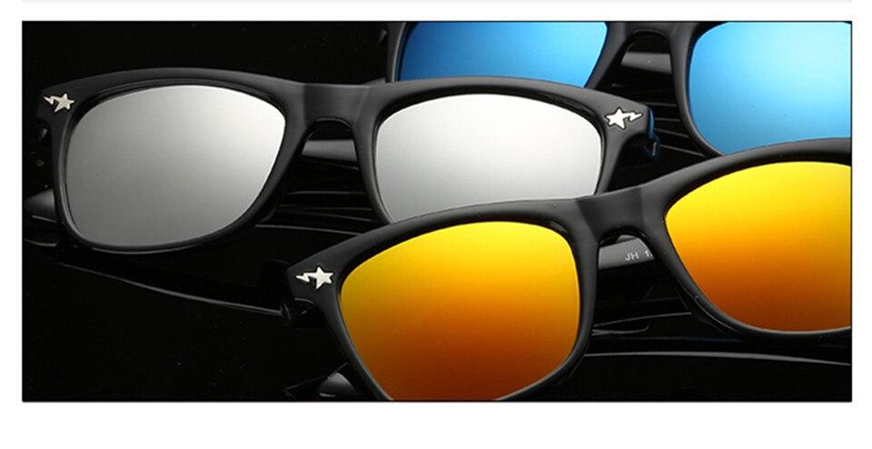 Fashion Kids Sunglasses lovely Sunglasses Mosaic Boys Girls Pixel Eyewares With Case Children Gift (10)
