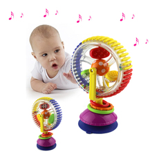 18CM Baby Rattle Toys Tricolor Multi-touch Rotating Ferris Wheel Suckers Toy Creative Educational Baby Toys(China)