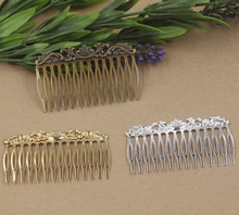 20pc/Lot 14 Teeth Hair Tuck Comb Hair Bobby Pin clip,Antique Bronze/Gold/Silver/Black Hairpin DIY Handmade Vintage Jewelry