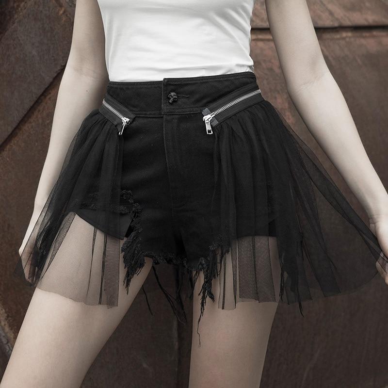 Womens Fuax Leather Shorts Pants Dress Slim Bodycon False Two Pieces Pants Black