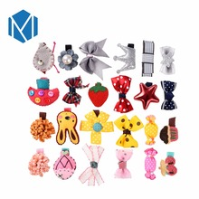 M MISM 1 set=6pcs Cute Children Hairpins Ribbon Bow-knot Bright Star Hairgrips Girl Gift Character Barrettes Hair Accessories(China)