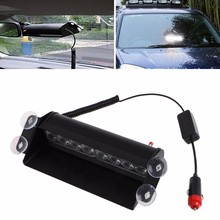 8 Led Flash Boat Truck Car Flashing Warning Emergency Windshield Unit 3 Mode Police Strobe Light Lamp