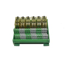 6 Channel DPDT DIN Rail Mount IDEC RJ2S Interface Relay Module(China)