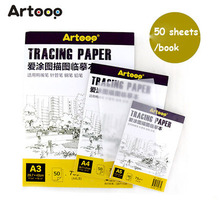50 sheets Tracing Heat Transfer Paper Sketchbook Painting Copy Paper Drawing Book vegetable parchment A3 A4 A5 73 g(China)