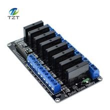 1pcs 8 Channel 5V DC Relay Module Solid State High Level SSR AVR DSP for Arduino