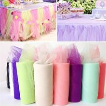 Top quality 22mX15cm Organza Sheer Gauze Element Table Runner Colorful Tissue Tulle Roll Spool Craft Wedding Party Decoration 6Z