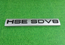 Auto Silver HSE SDV8 for RANGE ROVER Rear Boot Tailgate Emblem Badge Sticker