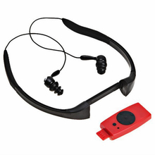 Sport music 4GB memory underwater MP3 Player radio FM head wearing MP 3 Players Diving swim surfing sports Super waterproof IPX8(China)