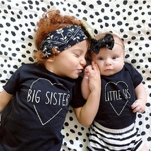 Big Sister Baby Girl's T-Shirts Cotton Infant Tees Shirt Summer Sleeved Toddler Tops Baby Clothes Girl T Shirt Children Outfits