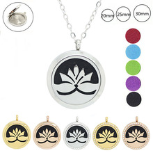 20mm 25mm 30mm 316l stainless steel magnetic essential oil diffuser necklace perfume essential oil pendant necklace wholesale