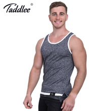 Taddlee Brand Fashion Mens Tank Top Tee Shirts Sleeveless Soft New 2017 Apparel Solid Bodybuilding Stylish Casual Undershirts(China)