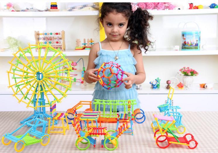 800 PCs Children Brand stick assemble blocks/ multi color and shape self locking bricks for Kids educational toys, free shipping<br>