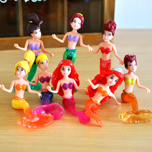 8pcs/set Little Mermaid Princess Doll Mermaid Dolls PVC Figures Models Kids Toys Gifts For Children#E