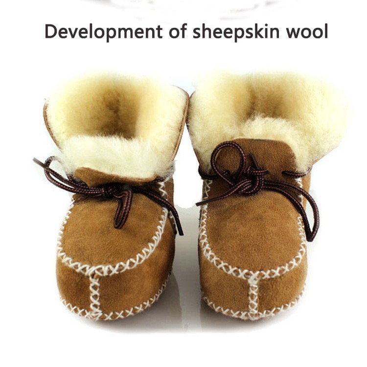 Hongteya winter baby shoes boots infants warm shoes fur wool girls baby booties Sheepskin Genuine Leather boy baby boots(China (Mainland))