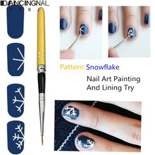 2015 New 10pcs Removable Metal French Polish Nail Art Brushes Manicure Paint Drawing Pen Tips Beauty Dotting Pencil Tools(China)