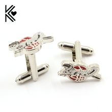 Cleveland Ohio Logo Basketball Design Cuff Links Boutique Silver Enamel Brand Cuff Buttons Classic Shirt Cufflinks For Mens Gift