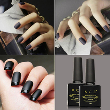 KCE 1pcs UV Gel Nails Matte Top Coat Matte Nail Polish Top Coat Durable Soak Off Transparent LED Gel Nail Polish(China)