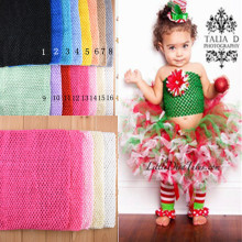 2015 New fashion Colorful Solid 20 Colors kids crochet headbands crochet tutu Top 12 inch 34CMX32CM crochet tube top 3pcs/lot