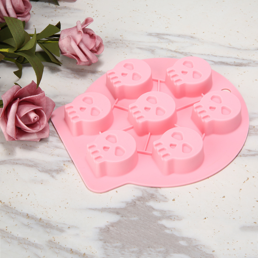 Halloween Witch Bone Ghost Bat Silicone Mold Fondant Flexible Cake Mould Soap Molds Cake Decorating Tools