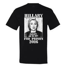 2017 Special Offer Sale Fashion O-neck Nylon Tee4u Print Cotton High Quality Graphic Short Sleeve Hillary For Prison Mens Tees
