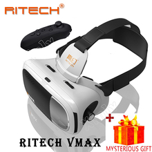 Casque RITECH 3 D VR Box 3D Virtual Reality Glasses Goggles Headset Helmet For Smart Phone Smartphone Len Lense Google Cardboard(China)