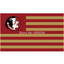 Florida State Seminoles with Modified US Flag 3ft x 5ft Polyester NCAA banner white sleeve with 2 metal Grommets 90x150cm(China)