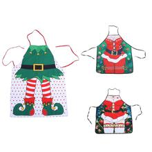 Funny Printed Personality Apron Christmas Santa Anime Cartoon Waterproof Apron Kitchen Restaurant Cooking Bib Aprons For Women(China)