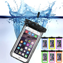 Waterproof Pouch For ZTE Blade V7 Lite Water Proof Diving Bags Outdoor Mobile Phone Cases Underwater Phone Bag with Neck Strap