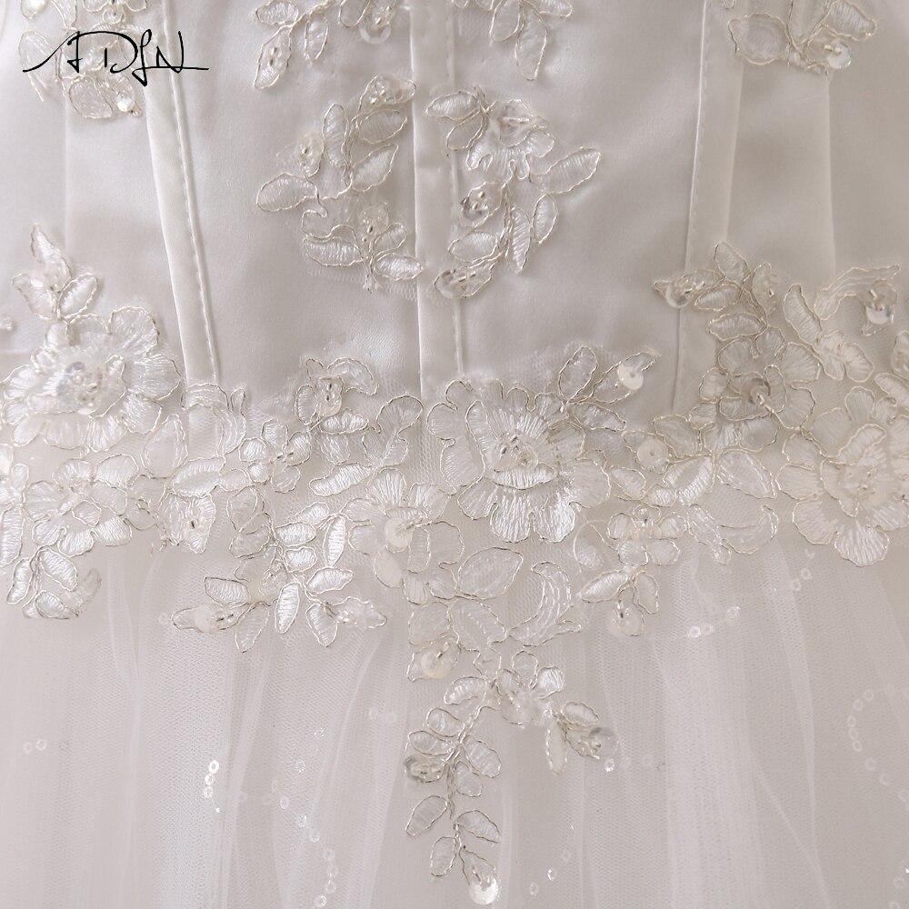 ADLN Wedding Dresses Vestidos de Novia Off the Shoulder Sweetheart Tulle Long Bride Dress Lace Up Back Plus Size In Stock 10