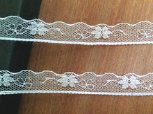 "15meter/lot  1.5cm 3/5"" width White flower pattern lace trim for DIY wedding bridal deco, headband,pettiskirt ribbon lovely lace"